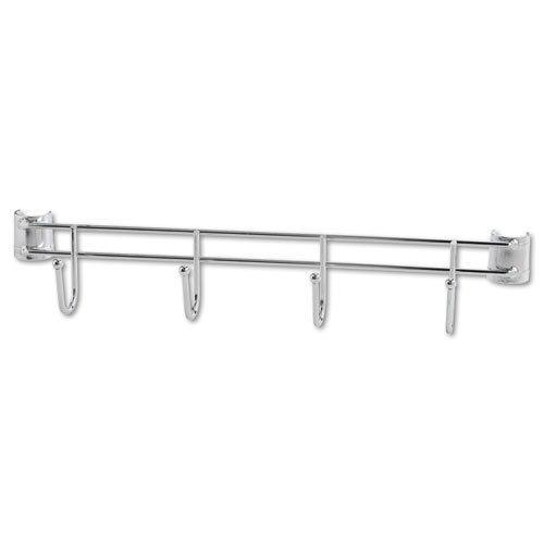 db694ed0ad10 Alera® - Hook Bars For Wire Shelving, 4 Hooks, 18