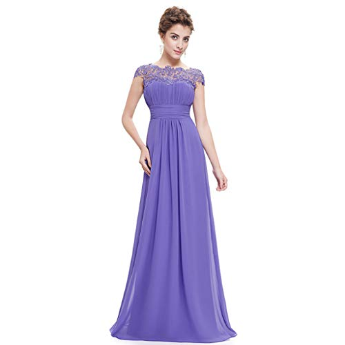 in pieghe Colore donna busto scollo sera 18 Lavender in dimensioni home violet Abito con da pizzo pizzo regolabile da a barchetta Ailin Tztq8