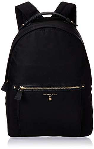 Michael Kors Women Nylon Kelsey Backpack Handbag, Black (Black)