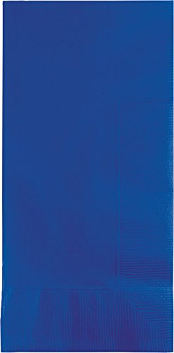 Creative Converting Touch of Color 50 Count Dinner Napkins, 1/8 Fold, Cobalt (Cobalt Blue Napkins)
