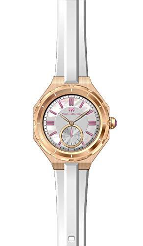 (TechnoMarine Women's TechnoMarine White Silicone Band Steel Case Swiss Quartz MOP Dial Watch)