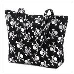 Silver Skull Polyester Tote