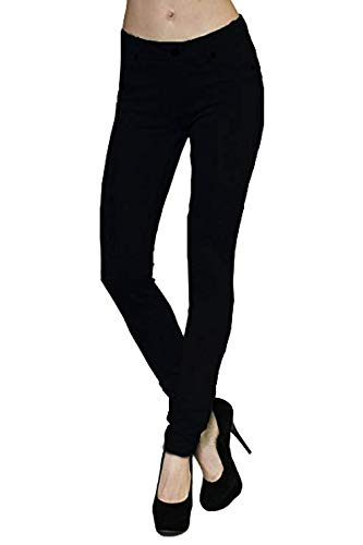 - Active USA 5 Pockets Skinny Ponte Pants  Large ,Black