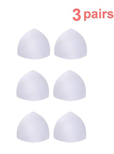 Bras Foam Womens (Womens Removable Smart Cups Bra Inserts Pads For Swimwear 3 Pairs In Set)