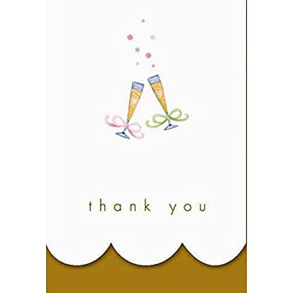Amazon Com Golden 50th Anniversary Thank You Cards 8ct Everything