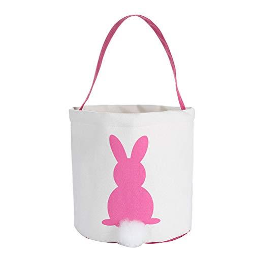 Bunny Basket Rabbit Bags Reusable Easter Gift Bag for Easter Hunt Party Favor ()
