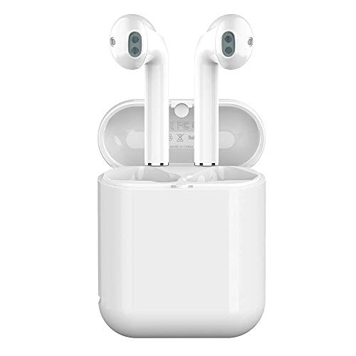Wireless Bluetooth Earbuds 5.0 in-Ear Sports Headphones Stereo Sweatproof Earphones with Charging Case Compatible for Android iPhone