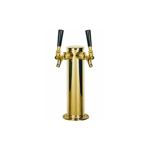 PVD-Coated-Stainless-Body-Double-Faucet-Beer-Tower-Polished-Brass-Look-by-Chill-Passion