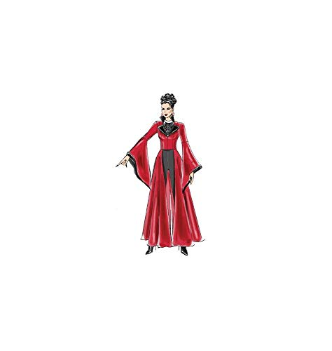 tallas 20-50 McCalls Patterns M6818 D5 Patr/ón para disfraz de bruja para chica color blanco