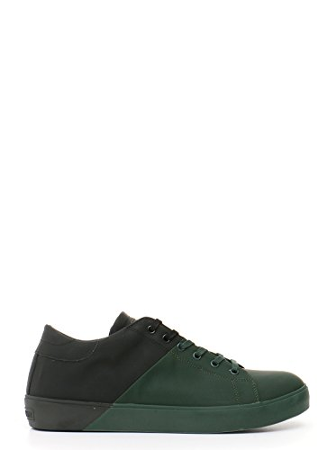 LEATHER CROWN HOMME MCBI185013O NOIR/VERT CUIR BASKETS