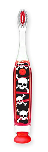 Dimension 9 938018 Skull/Crossbones Personalized Flashing Toothbrush, Boys (Child Skull Teeth)