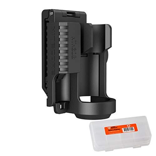 Nitecore NTH30B Swivel Holster and Lumen Tactical Battery Organizer for P20 P20UV P10 P12 P25 MT25 MT26 MH25 SRT7 CG6