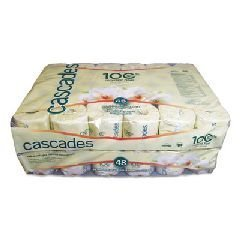 Cascades B340 Standard Bathroom Tissue, 2-Ply, 4 x 3 1/2, White, 336 Sheets per Roll (Case of 48 Rolls)n by Cascades