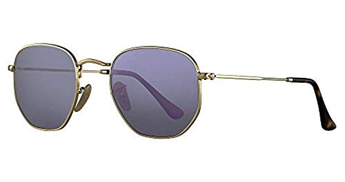 Wisteria Unisex Ray Flash Gold Sunglasses Hexagonal ban Rb3548n Aqq48Fg