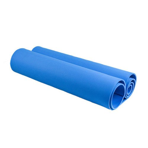 6mm Thick Exercise & Fitness Non-Slip Blue Yoga Mat Lose Weight Meditation Pad Goods Shop