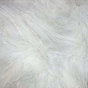[Fake Fur/faux Fur - White Sparkles Fabric sold by the 1/3 YARD] (Third Leg Costume)