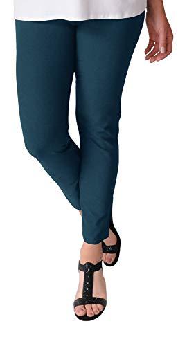 Eileen Fisher Washable Stretch Crepe Slim Ankle Pant w/Yoke Waistband (XL, Dark Jewel)