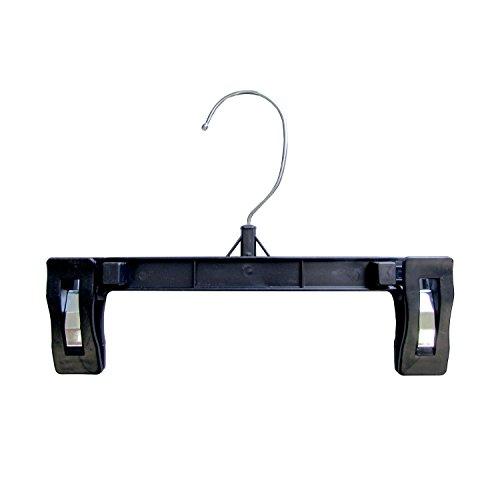 Hanger Central Heavy-Duty Black Plastic Closet Department Store Pants Hangers, 8 Inch, 50 Pack