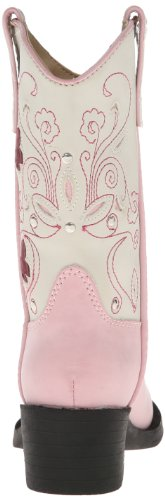 Little Boot Butterfly Light Kid White Western Pink Roper Toddler Up nFvwBFYq