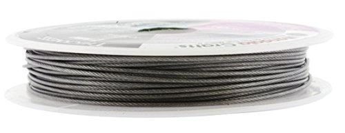 - Mandala Crafts Nylon Stainless Steel 18 20 21 22 24 25 Gauge 49 Strand Soft Flexible Jewelry Making Beading Wire (1MM 32FT)