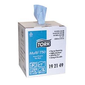 Tork (SCA192149) Tork Multi General Purpose T50 Wiper, Center Pull, Blue - Pull Wipers Center