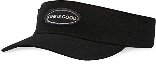 Life is Good Visor Life is Good Oval, Night Black, One Size - Life Is Good Cotton Visor