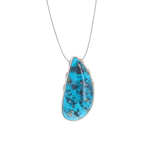 Nacozari Mexican Turquoise Pendant 3 Strand Necklace - Turquoise Pendant Mexican