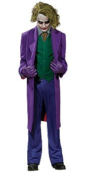 Heath Ledger Joker Costume (Batman The Dark Knight Grand Heritage Deluxe Costume And Mask, The Joker, Purple, Large)