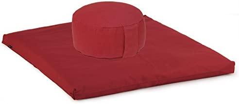 Bodhi Yoga - Set de meditación (cojín y colchoneta) rojo ...