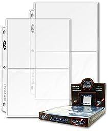 (50) BCW 2-Pocket 5 x 7 5x7 Postcard Photo Binder Pages