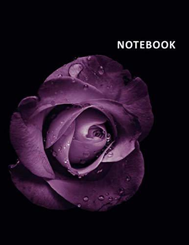Purple Florist Rose (College Ruled Notebook: Purple rose Elegant Student Composition Book Daily Journal Diary Notepad floral print gifts)