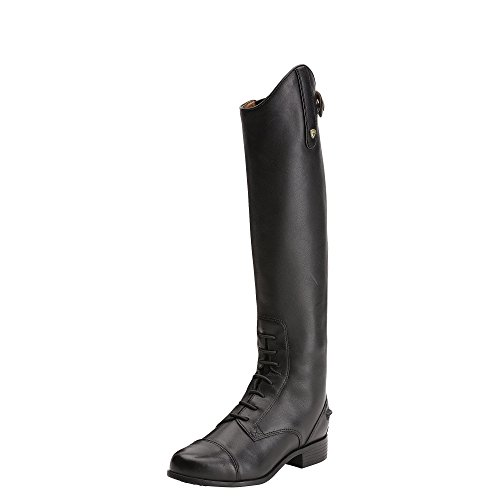 Ariat Girls Heritage Contour Field Zip Tall Riding 5 K B / Medium(Width) Regular(Calf) Medium(Height) Black