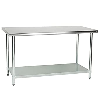 foodservice essentials stainless steel commercial kitchen prep and work table 60inch wt