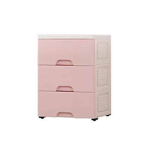 (Storage Box Plastic Finishing Cabinet Wardrobe Office Home Storage Box Drawer Storage Cabinet HUYP (Color : Pink))