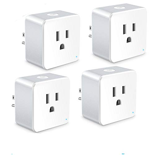 Price comparison product image WiFi Smart Plug, Wsky Mini Smart Outlet 4 Pack, Compatible with Alexa & Google Home/IFTTT, APP Remote Control from Anywhere, No Hub Required, WiFi Enabled Voice Control Smart Socket