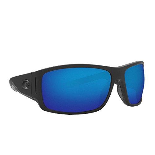 Costa Del Mar Cape Sunglasses Matte Black Ultra/Blue Mirror 580Plastic