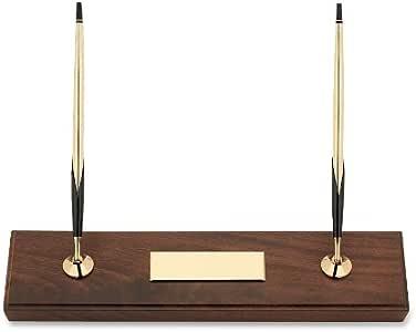 Cross 5201 - Juegos de escribanía, doble base, color madera de nogal: Amazon.es: Oficina y papelería