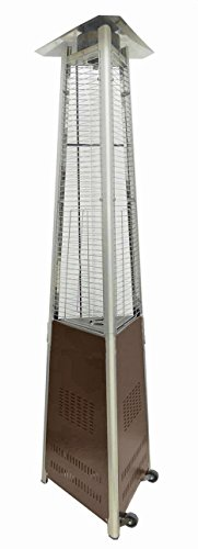 AZ Patio Heaters HLDS01-CGTHG Commercial Glass Tube Patio Heater, Bronze
