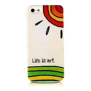 TY- La vida es modelo del arte suave de la caja del silicón para iPhone5/5s