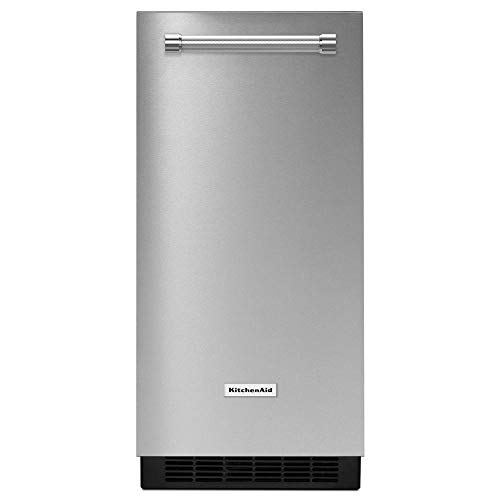 "KitchenAid 15"" PrintShield Stainless Automatic Ice Maker with Pump KUIX535HPS"