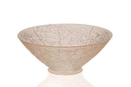 Lalique Crystal Ombelles Gold Luster Bowl 12