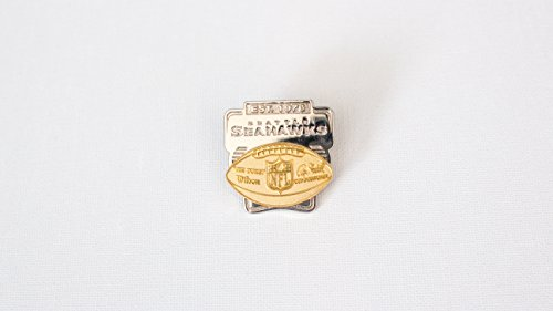 Seattle Seahawks Gold and Silver Football Lapel Pin