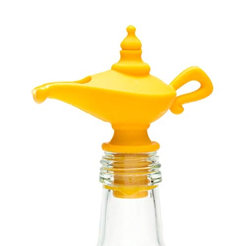 (PELEG DESIGN - Oiladdin Oil Pourer & Stopper Silicone Oil Pour Spout for Olive Oil Aladdin Lamp Design Oil Dispenser Bottle Stopper)