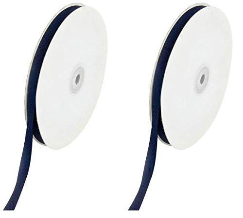 Creative Ideas Solid 3/8-Inch Grosgrain Ribbon, 50-Yard, Navy Blue (Тwo Рack)