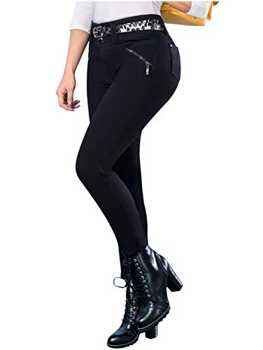 LT.ROSE Draxy 1373 High Rise Skinny Butt Lifting Jeans for Women | Jeans Colombianos Black 11 (Best Jeans To Lift Buttocks)