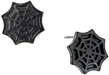 Marvel Comics Amazing Spiderman Black Mask Stud Earrings