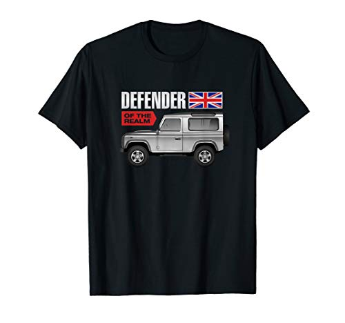 UK Flag Defender of The Realm Land Off Road 4x4 Earth Rover T-Shirt