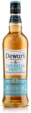 DEWAR'S Whisky Escocés, 8 Años Caribbean Smooth Envejecido en Barricas de Ron y ExBourbon con Notas Dulces y Tropicales, 700ml
