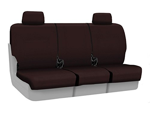 Coverking Front Custom Fit Seat Cover for Select Lincoln Town Car Models - Poly Cotton (Wine) ()