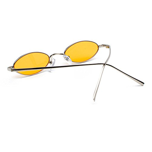 gafas de Hombres de Mujeres Vintage UV400 sol C6 Pequeñas Highdas sol Pequeñas ovaladas Retro gafas tqvPxZrq